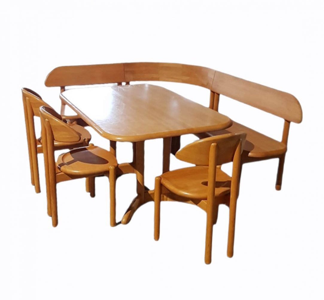 Very rare Ansager Mobler set with table, sofa & 3 chairs