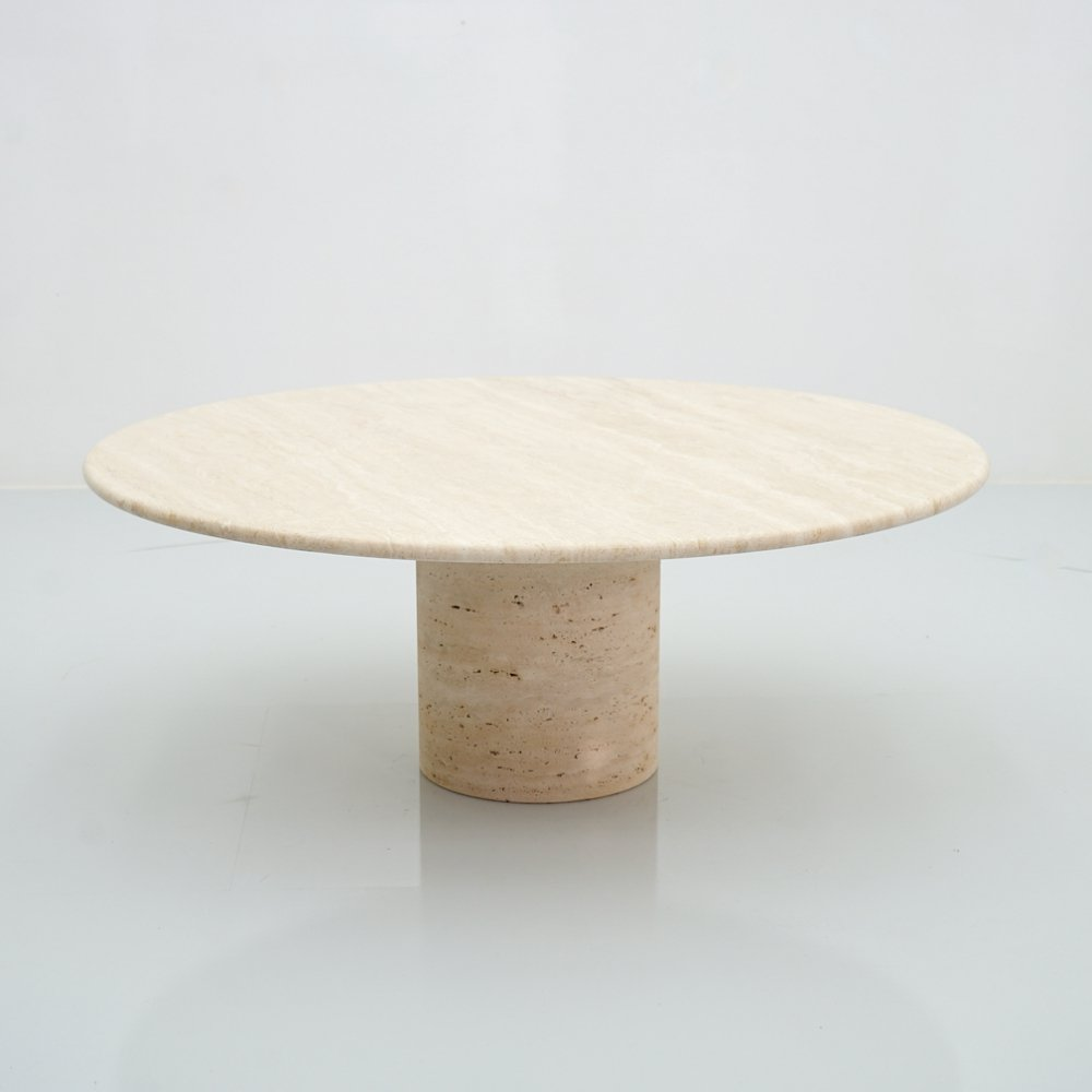 Coffee Table by Up & Up in Italian Travertine Stone, 1970s
