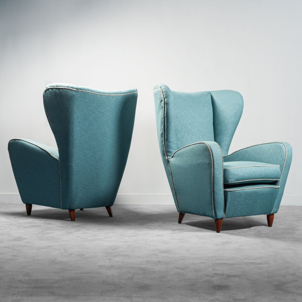 Pair of Paolo Buffa armchairs, 1950s