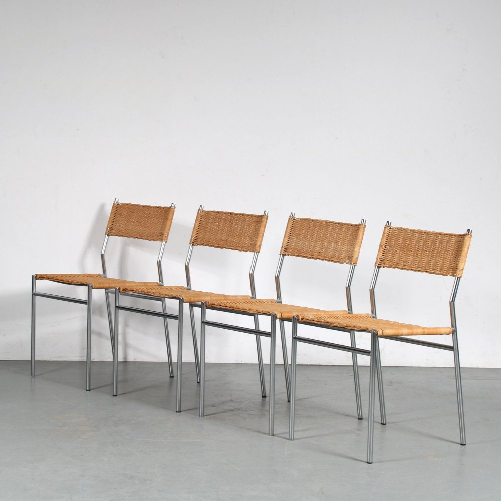 1960s set of dining chairs by Martin Visser for