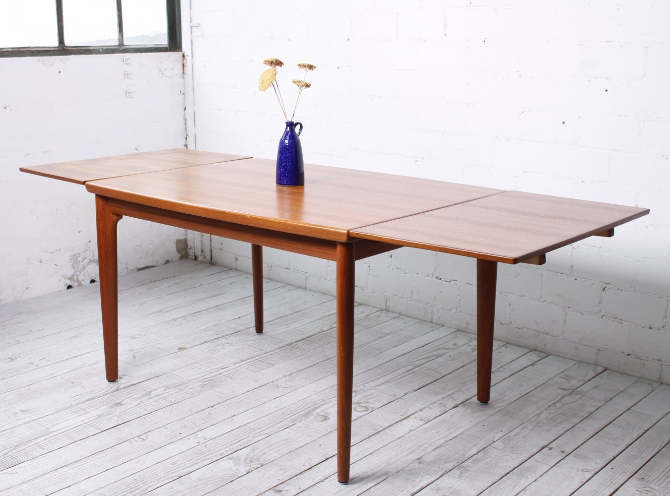 Retractable Teak Dining Table by Grete Jalk for Glostrup, 1960s