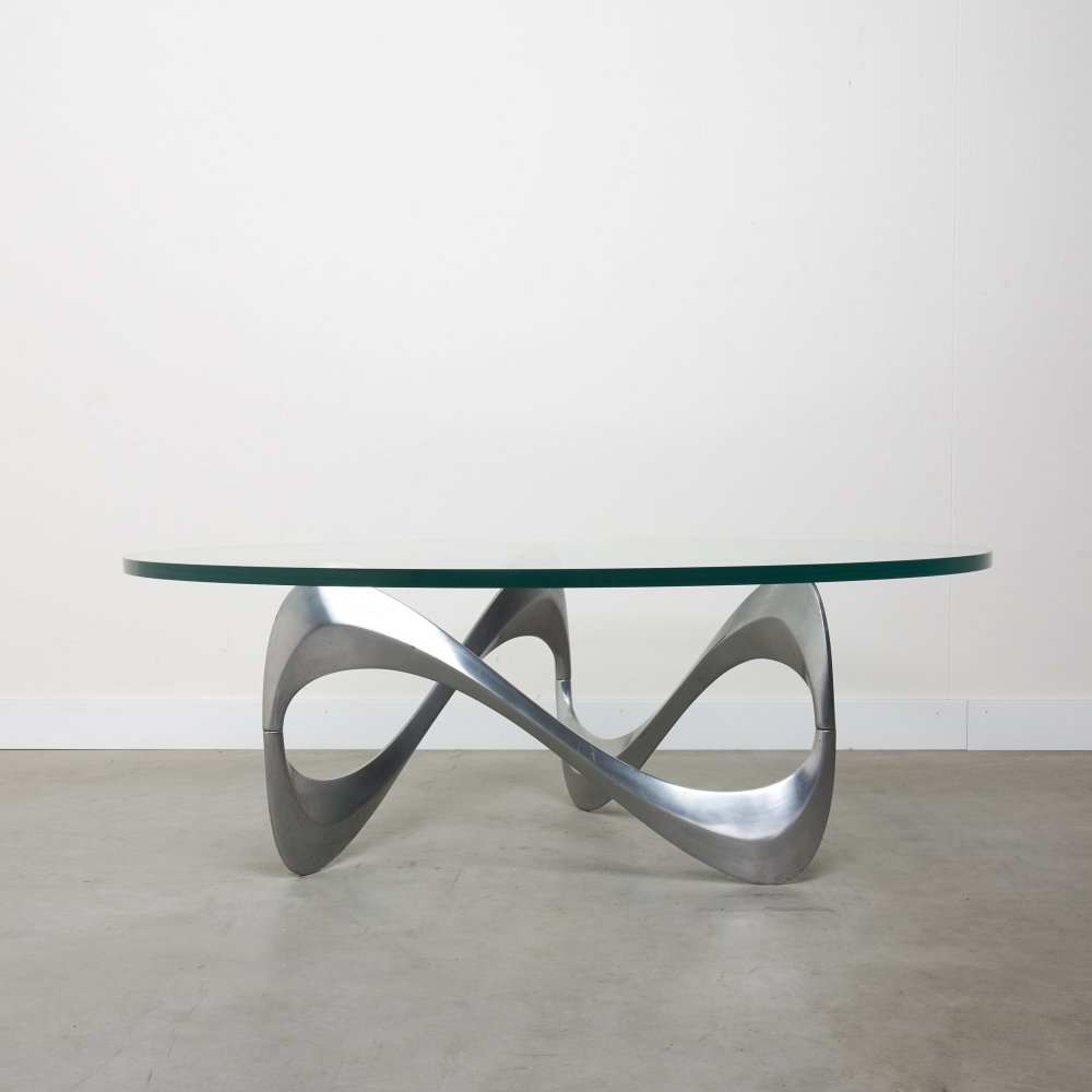 Vintage coffee table by Knut Hesterberg for Ronald Schmitt, 1960s