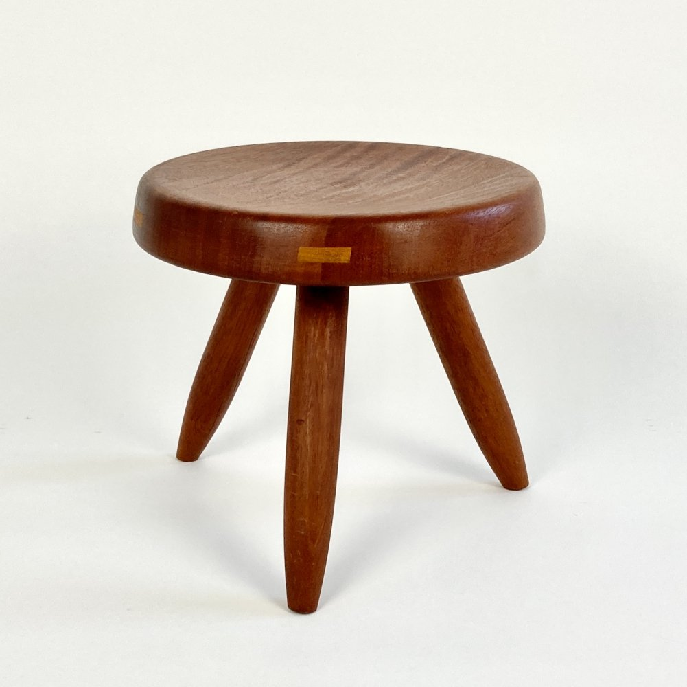 Tabouret Berger three legged stool by Charlotte Perriand
