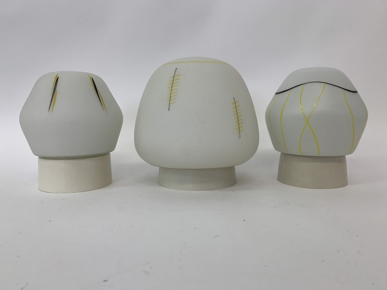 Set of 3 ceiling lamps, 1960