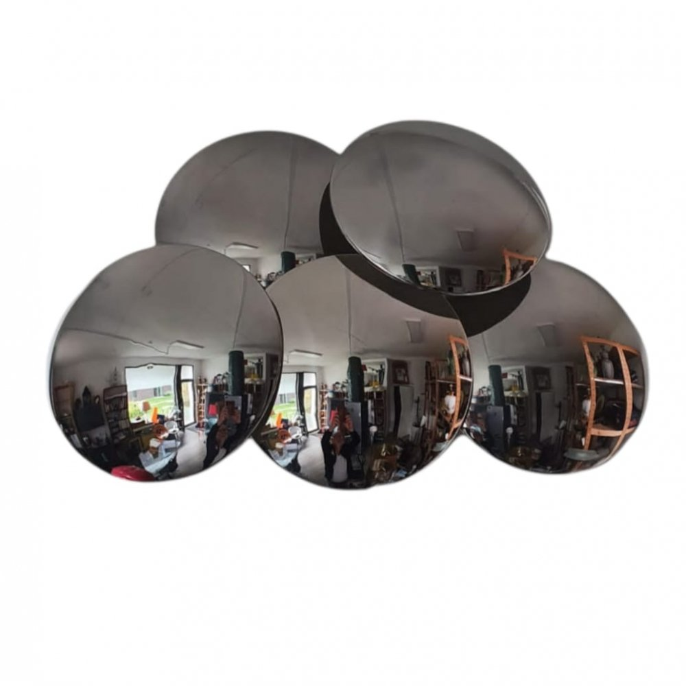 5 convex mirrored disc wall lamp by Reggiani, 1980s