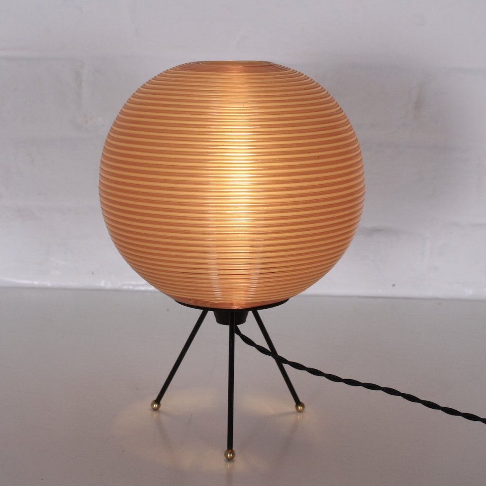 Hollow plastic Model R1 (1st of the series) lamp by Rotaflex, 1950