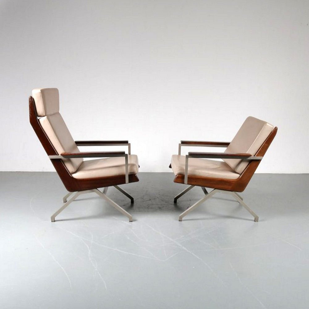 Pair of Lounge Chairs by Rob Parry for Gelderland, Netherlands 1960