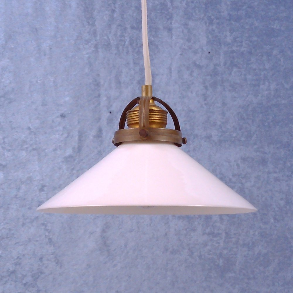 Small Mid 20th century coolie pendant lamp, 1940s