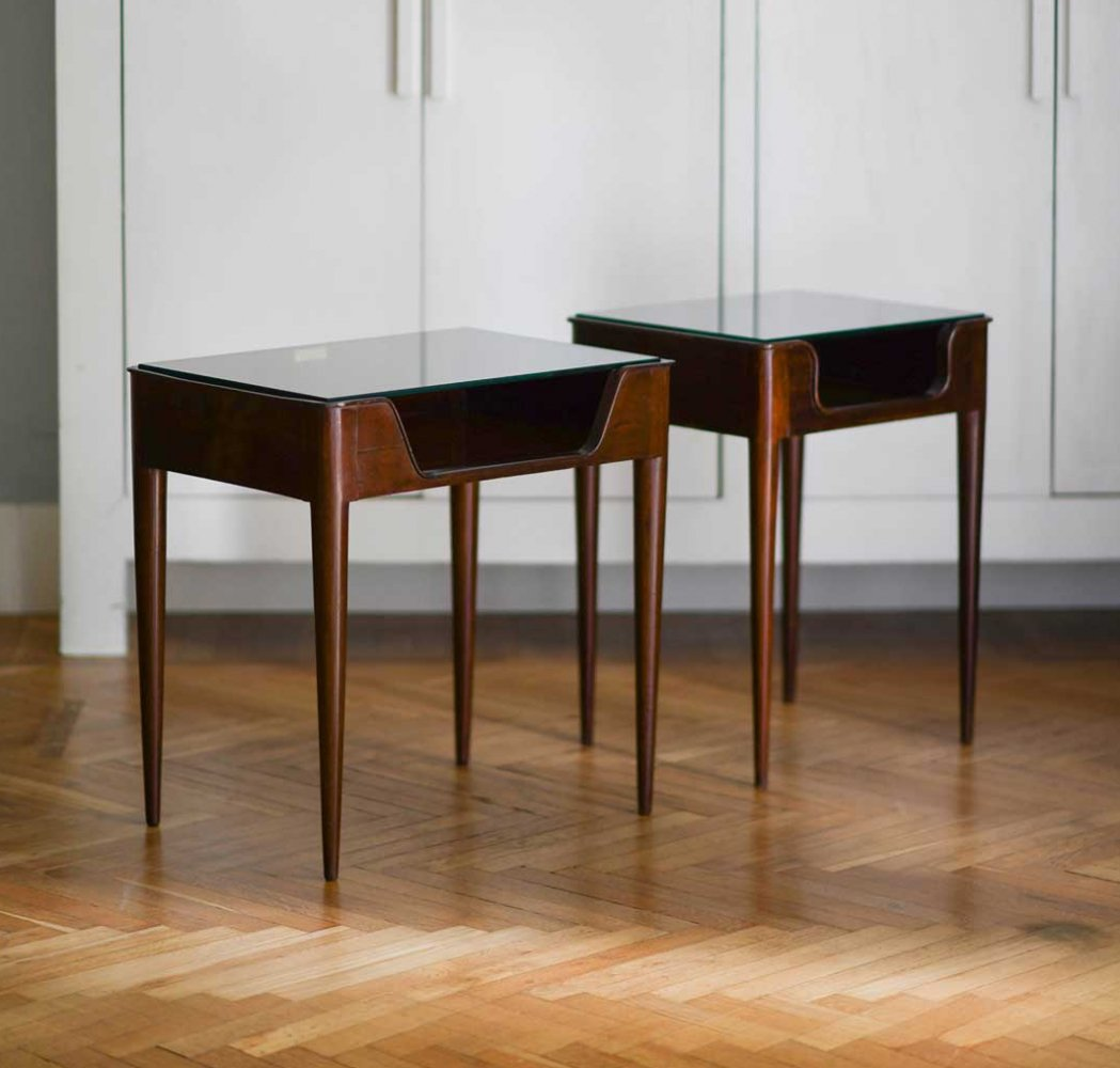 Pair of Fratelli Strada side tables, 1950s