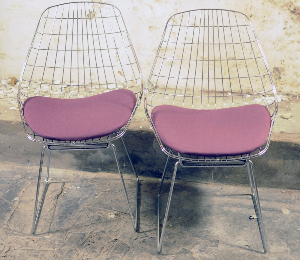 UMS Pastoe FM05 wire chairs by Cees Braakman, 1960