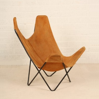 butterfly lounge chair by jorge ferrari hardoy for knoll 1960s 6425. Black Bedroom Furniture Sets. Home Design Ideas