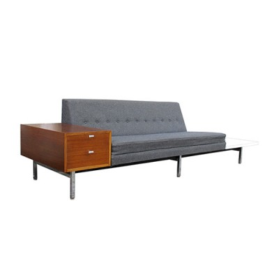 office sofa by george nelson for herman miller 1960s 14148. Black Bedroom Furniture Sets. Home Design Ideas