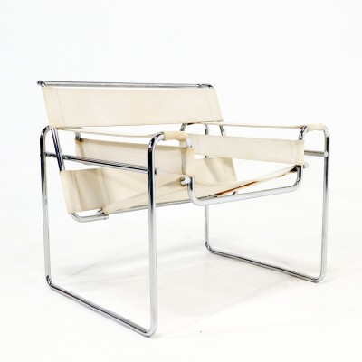 wassily lounge chair by marcel breuer for gavina 1960s 19981. Black Bedroom Furniture Sets. Home Design Ideas