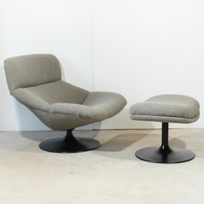 f517 lounge chair by geoffrey harcourt for artifort 1960s 21797. Black Bedroom Furniture Sets. Home Design Ideas