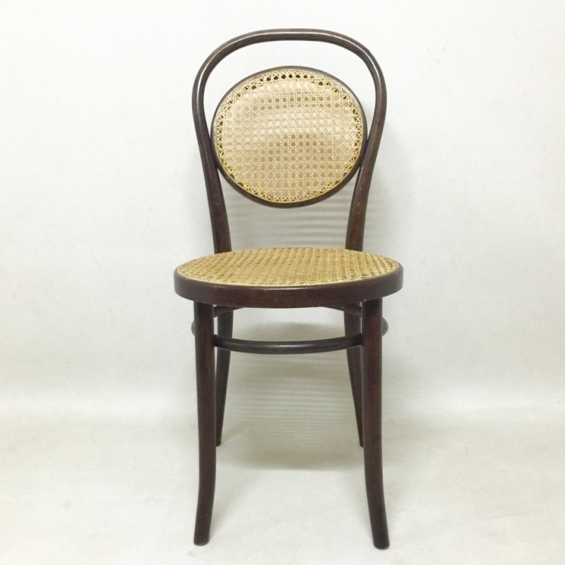 3 dinner chairs from the thirties by unknown designer for thonet 33715. Black Bedroom Furniture Sets. Home Design Ideas