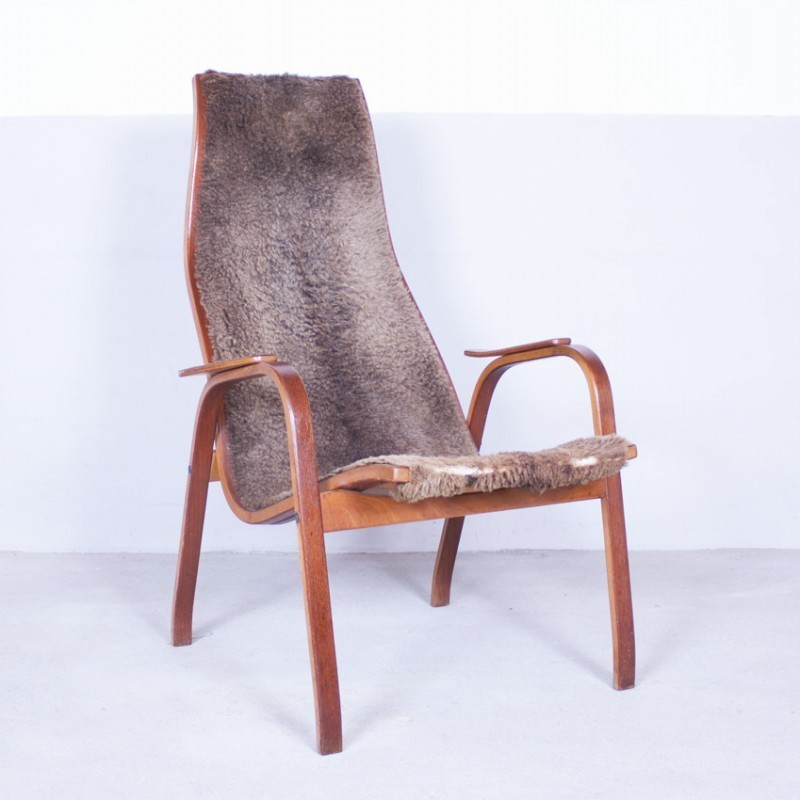 Kurva Lounge Chair from the fifties by Yngve Ekström for Swedese #34396