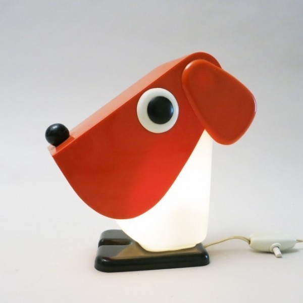 Jonathan Louis Furniture Quality Dog Desk Lamp from the seventies by Fernando Cassetta for ...