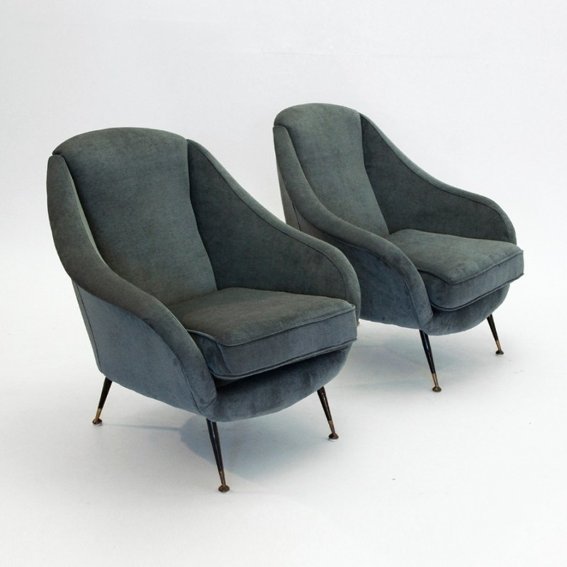 Pair of vintage lounge chairs 1950s 35600 - Vintage lyon lounge ...