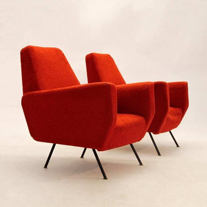 Pair of vintage lounge chairs 1950s 35993 - Vintage lyon lounge ...
