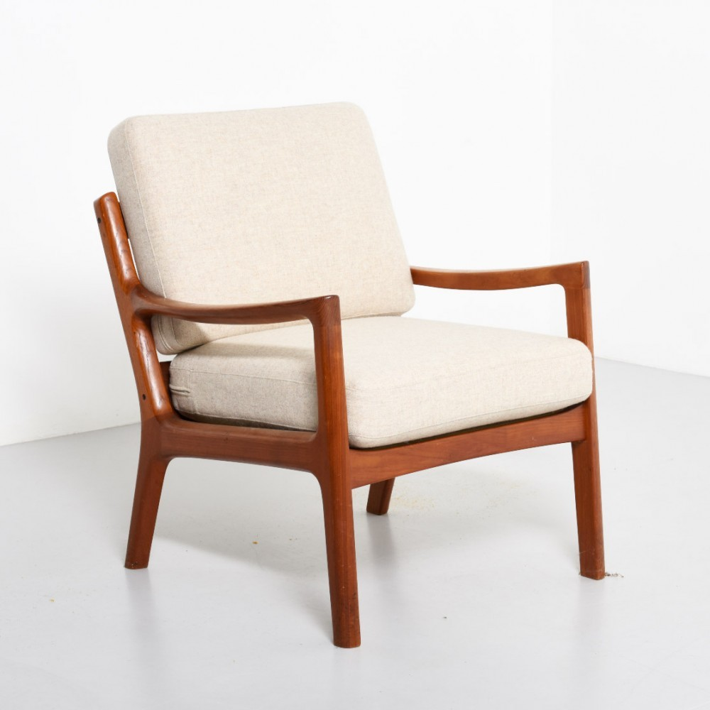 Senator lounge chair by Ole Wanscher for France& Son, 1950s #39005