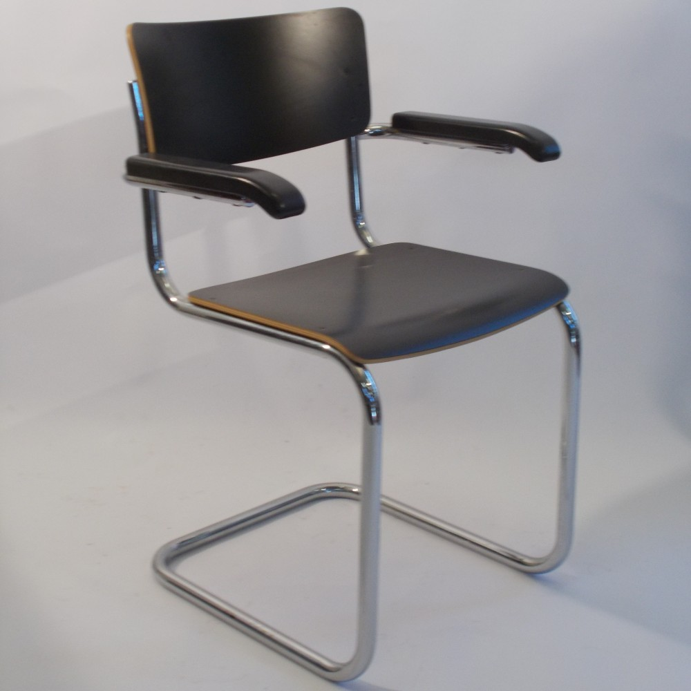 s 43 arm chair by mart stam for thonet 1960s 39506. Black Bedroom Furniture Sets. Home Design Ideas