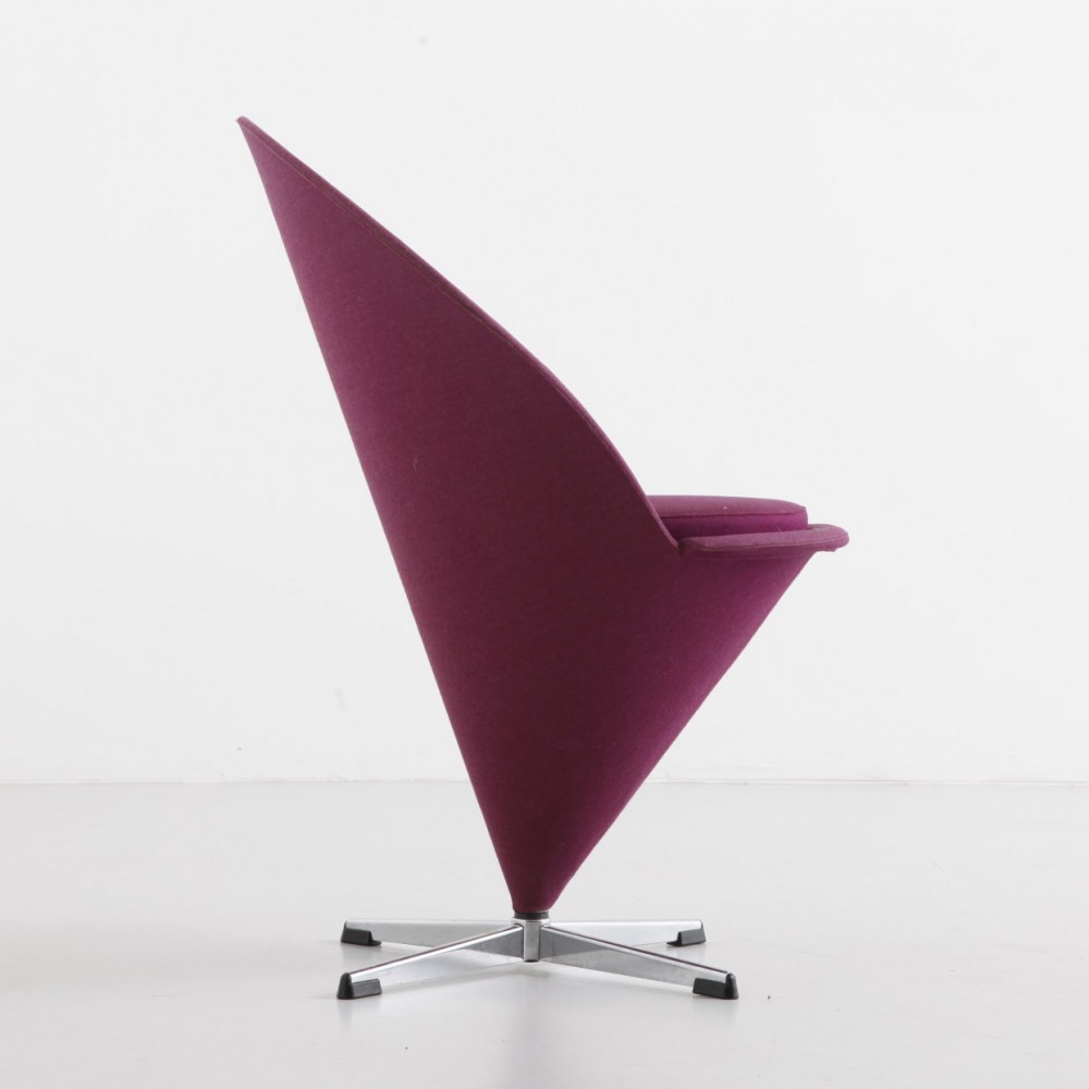 Cone dining chair by Verner Panton for Plus Linje, 1950s ...