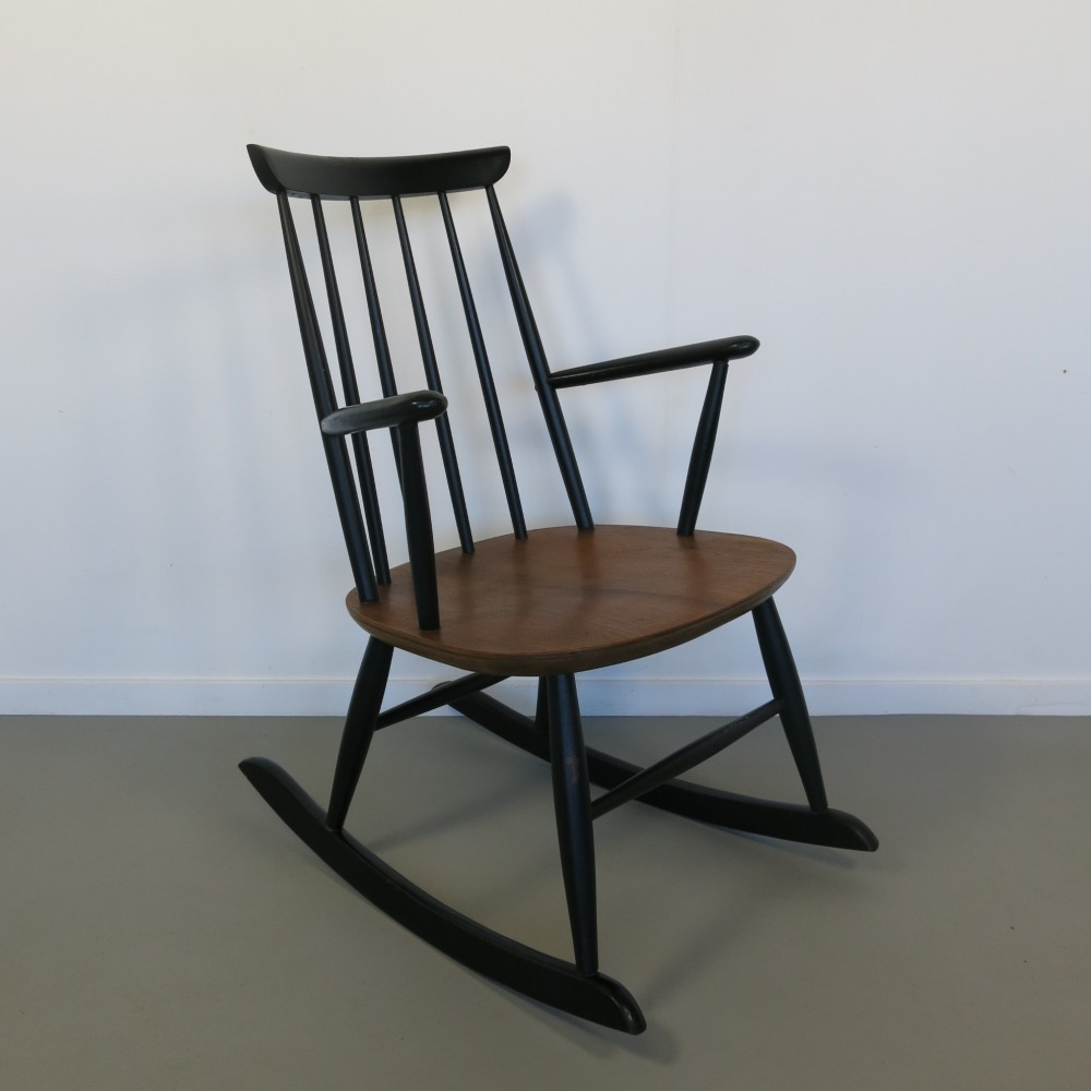 ilmari tapiovaara rocking chair 1960s 40729. Black Bedroom Furniture Sets. Home Design Ideas