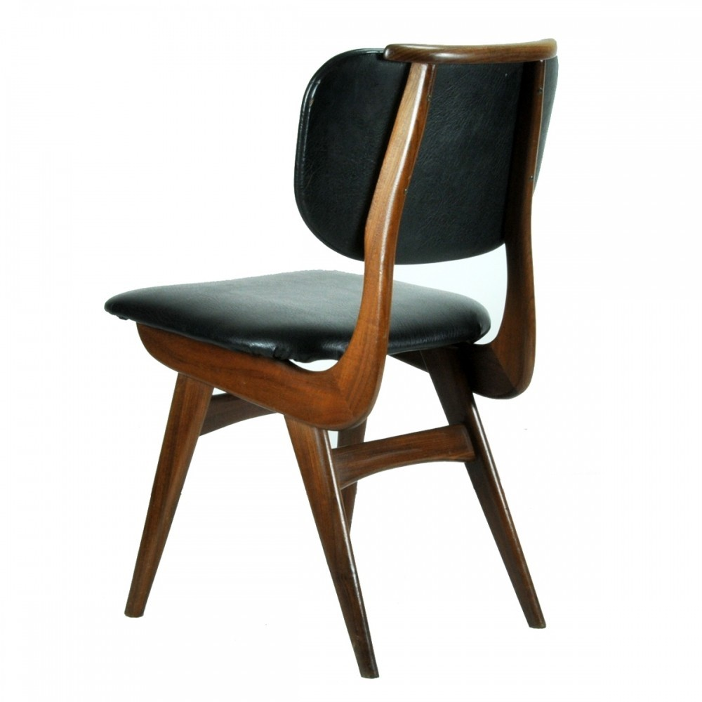 set of 5 dinner chairs from the fifties by louis