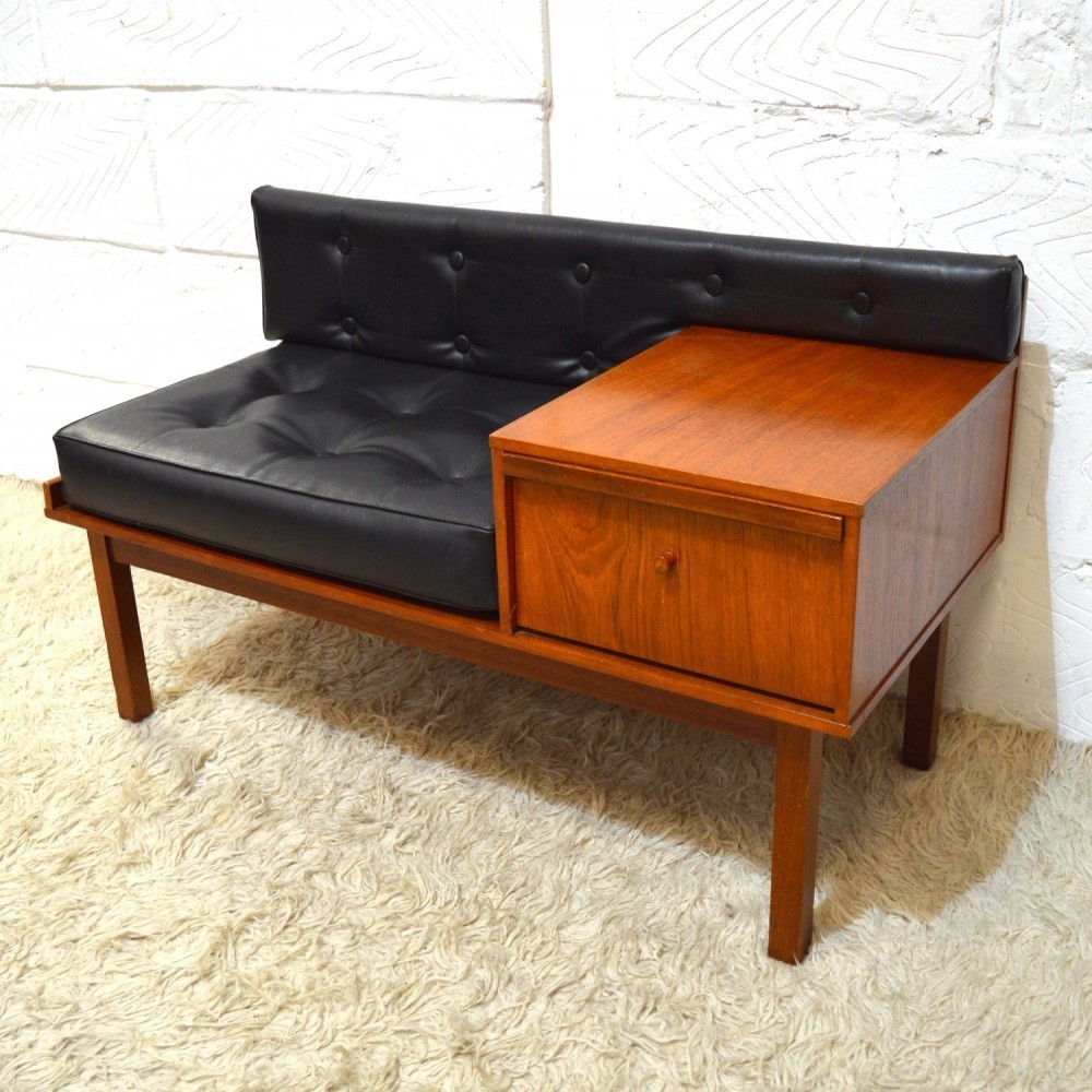 Chippy Telephone Seats Bench 1960s 41699
