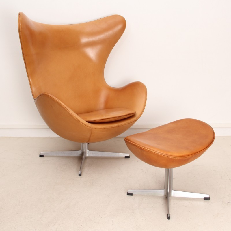 egg lounge chair by arne jacobsen for fritz hansen 1950s. Black Bedroom Furniture Sets. Home Design Ideas