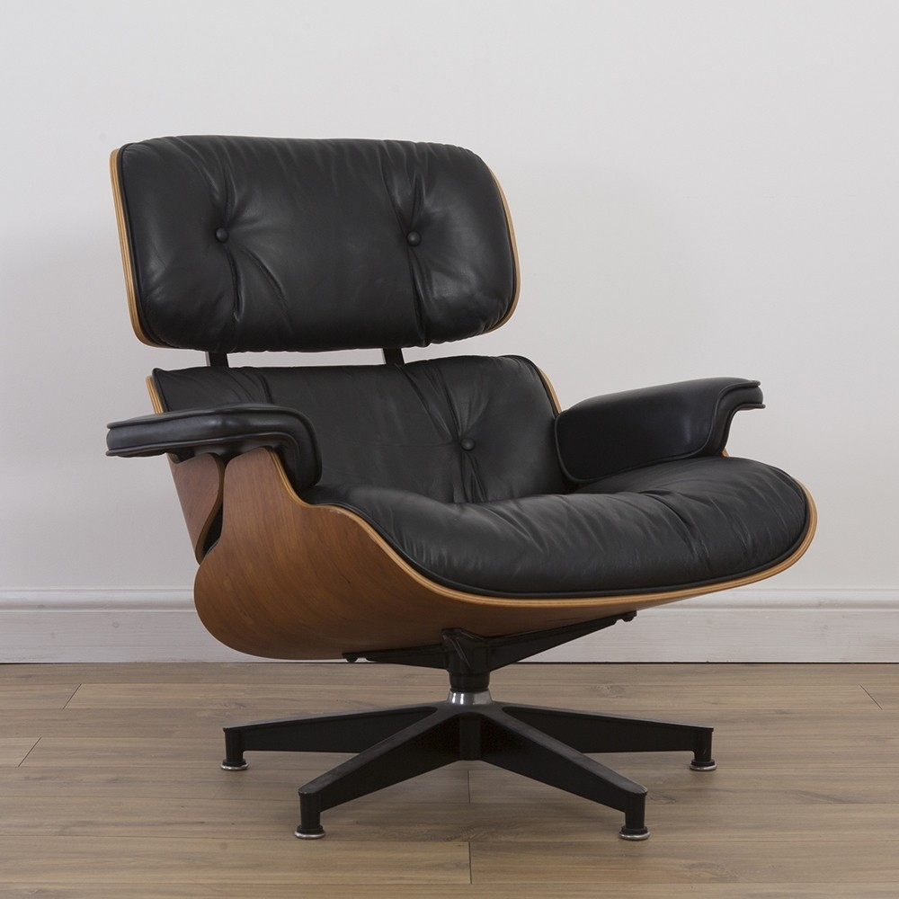 cherry lounge chair from the nineties by charles ray eames for herman miller 48347. Black Bedroom Furniture Sets. Home Design Ideas