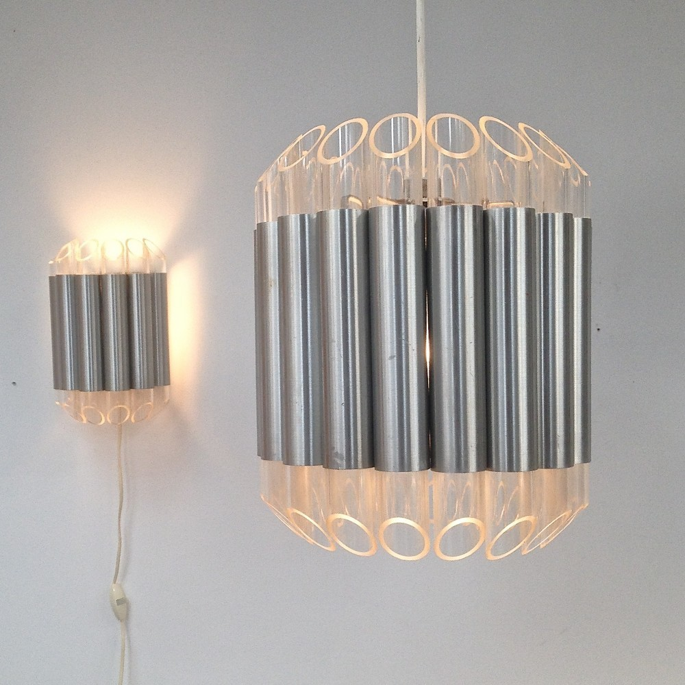 Set of 2 Septiem wall lamps from the sixties by Unknown Designer for Raak Amsterdam #49867