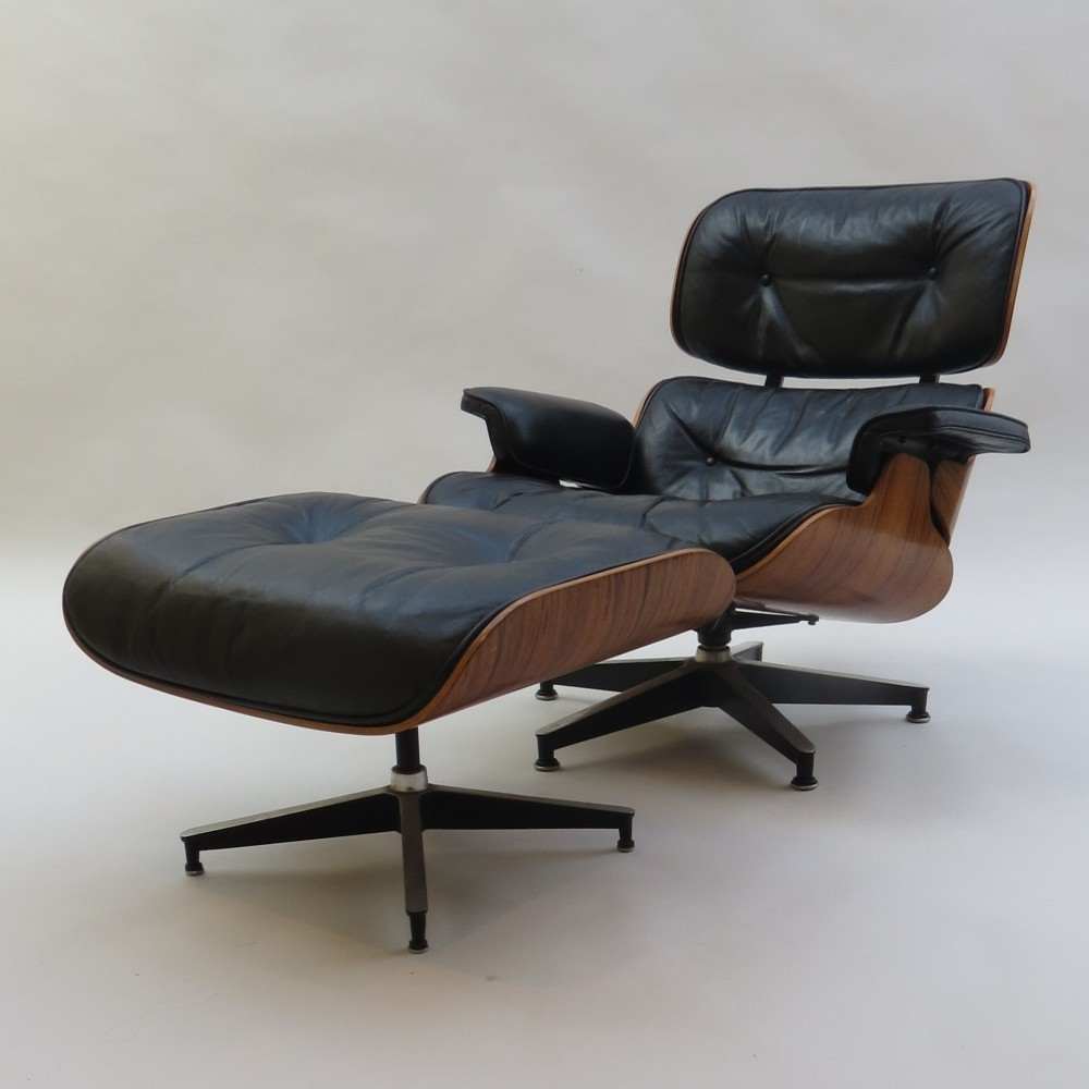 670 671 lounge chair from the fifties by charles ray eames for herman miller 51369. Black Bedroom Furniture Sets. Home Design Ideas