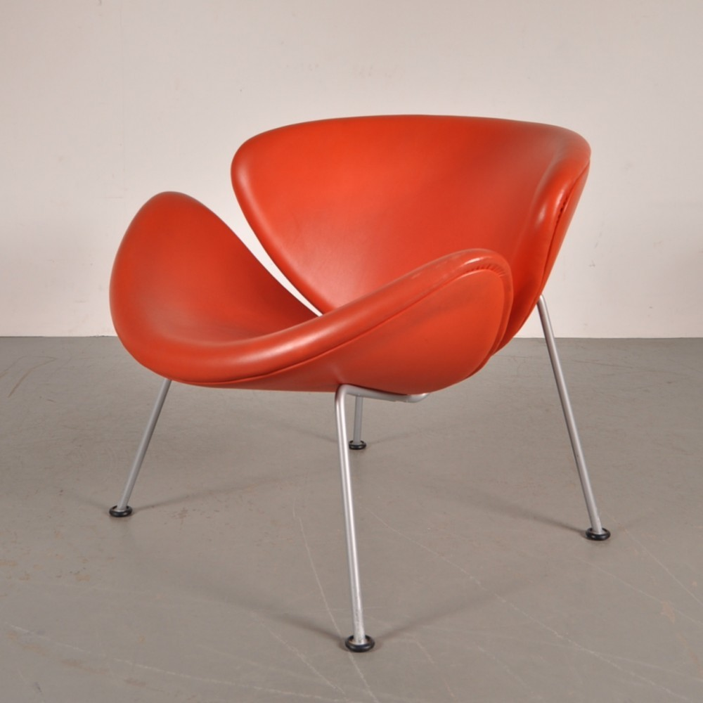 orange slice lounge chair by pierre paulin for artifort 1950s 52786. Black Bedroom Furniture Sets. Home Design Ideas
