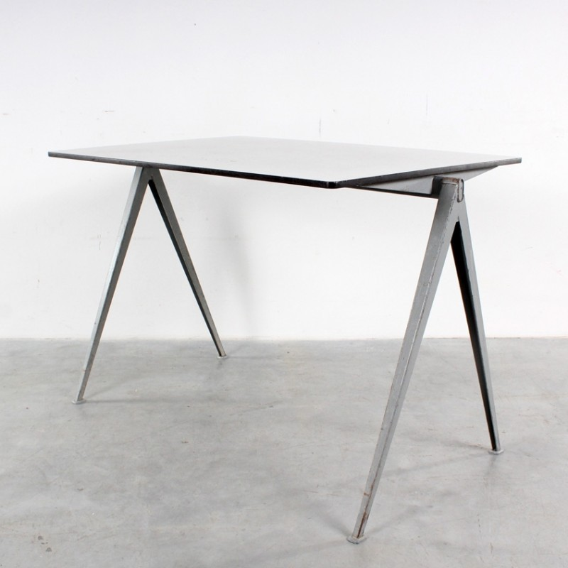 1964 Rare Friso Kramer Coffee Table For Ahrend De Cirkel: 2 X Pyramid Dining Table By Wim Rietveld For Ahrend De