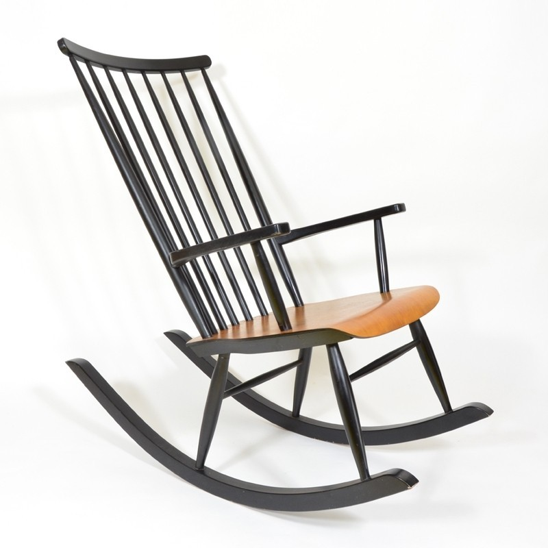 vintage rocking chair 1960s 55620. Black Bedroom Furniture Sets. Home Design Ideas