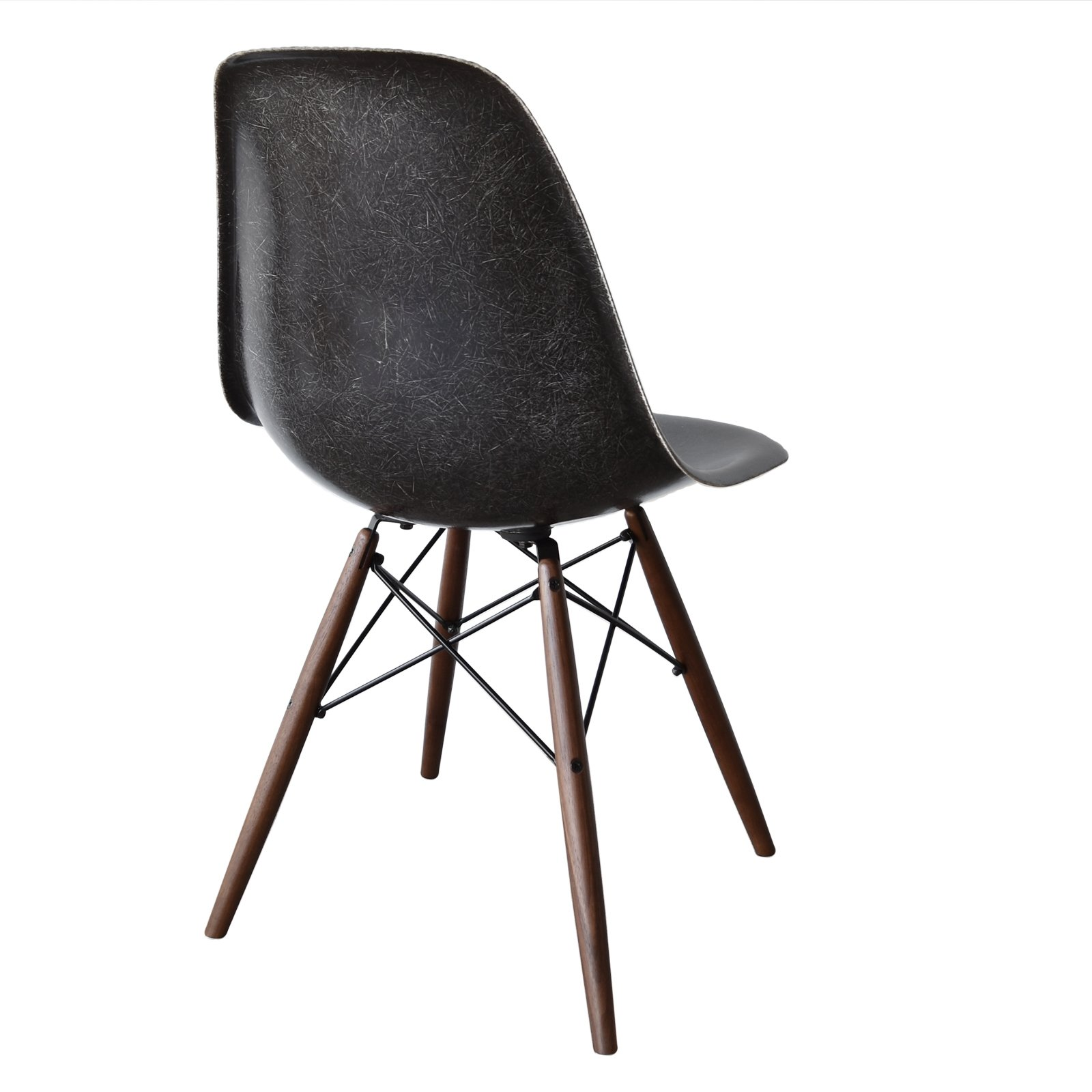 Dsw black dinner chair by charles ray eames for herman miller 1960s - Herman miller chair eames ...