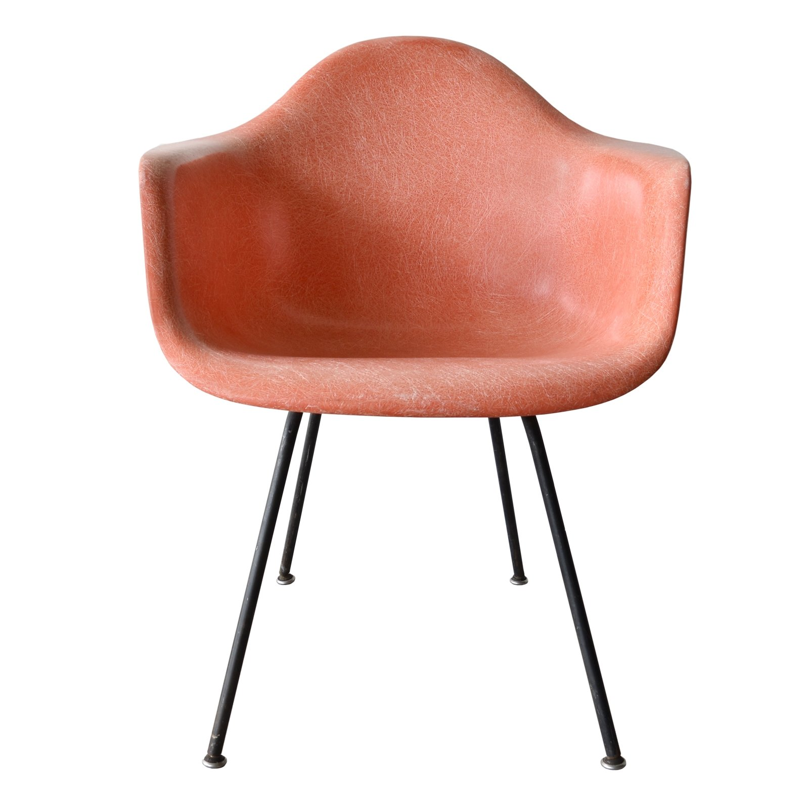 Dax salmon arm chair by charles ray eames for herman miller 1950s 5 - Eames chair herman miller ...