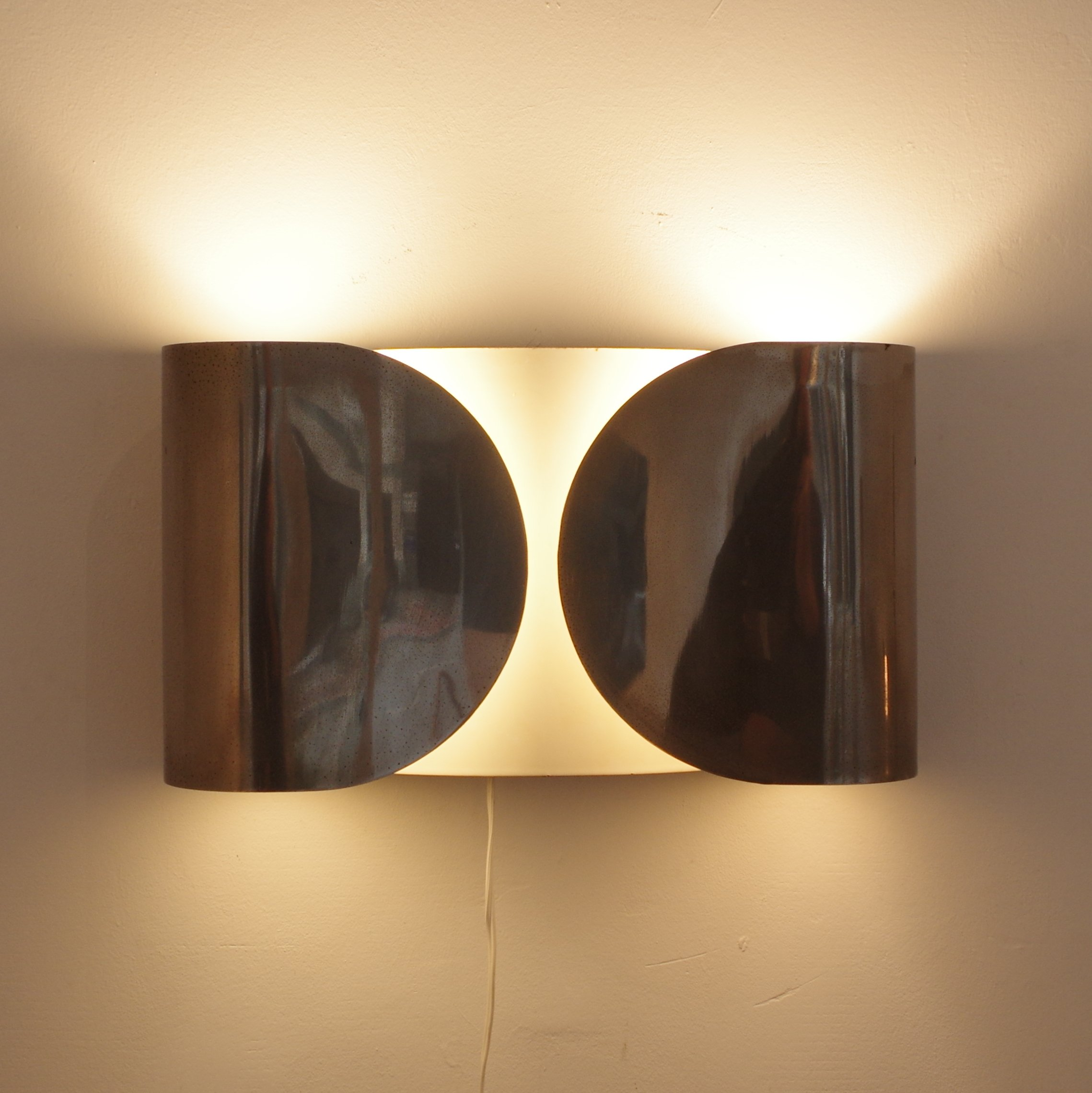 Pair of foglio wall lamps by achille giacomo castiglioni for flos pair of foglio wall lamps by achille giacomo castiglioni for flos 1960s aloadofball Gallery