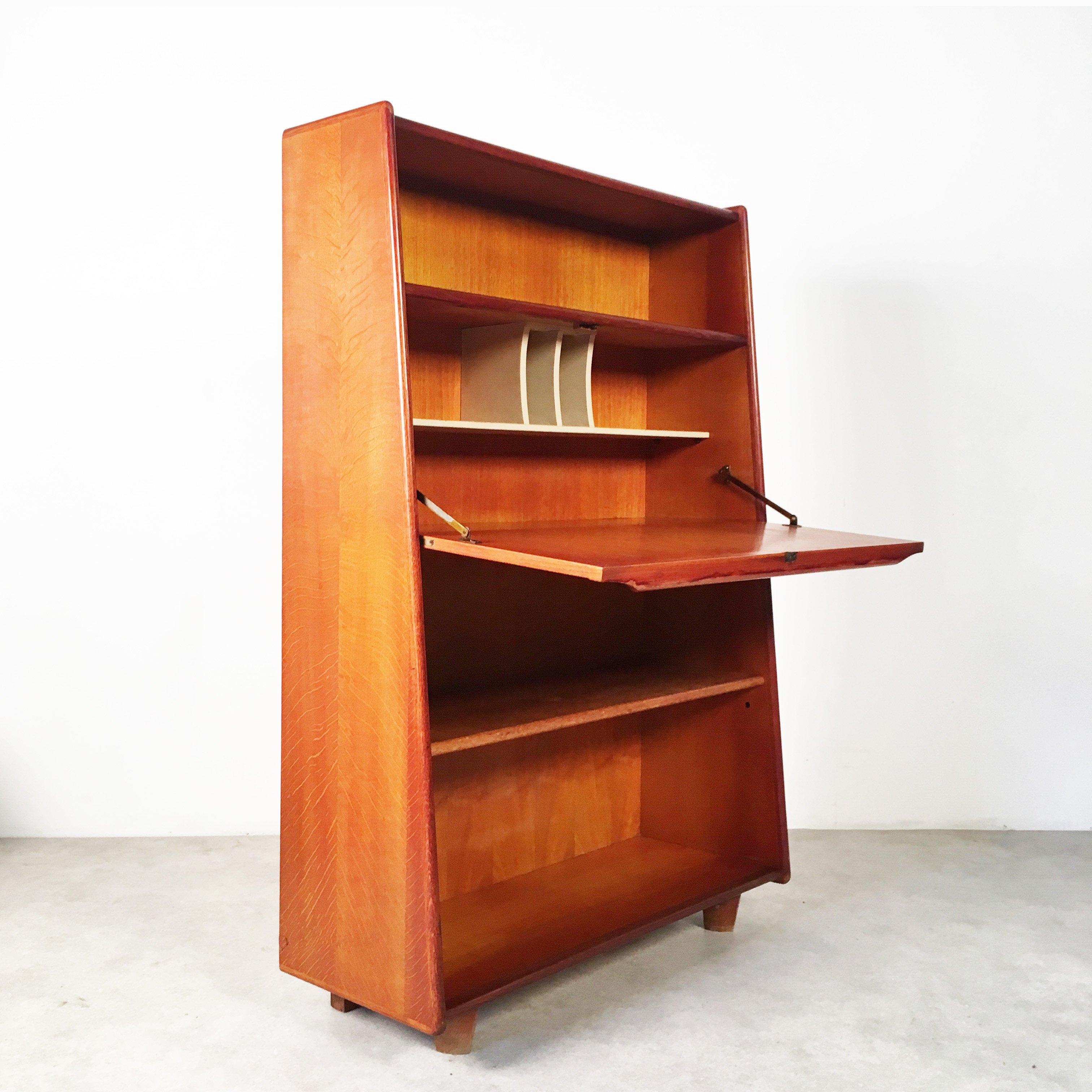 Amazing Oak Series Secretary Cabinet By Cees Braakman For Pastoe, 1950s