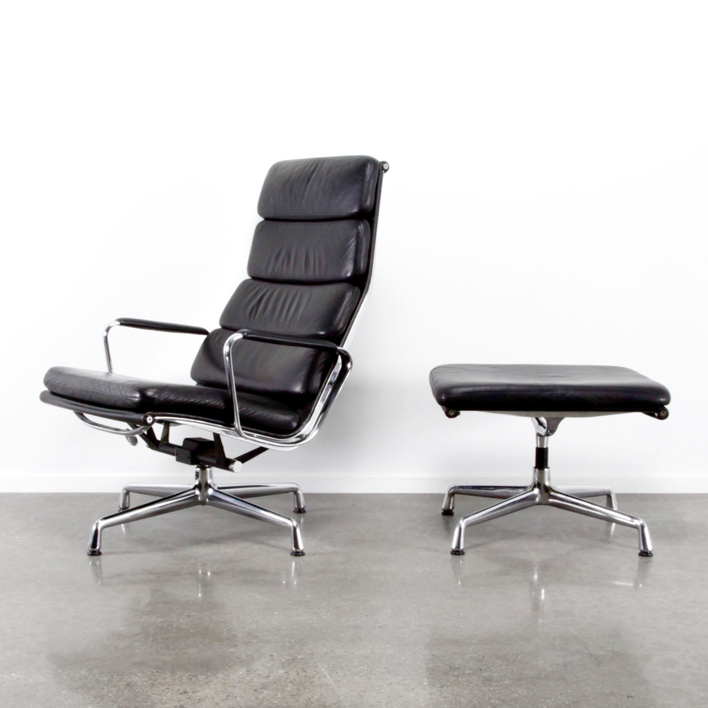 eames soft pad lounge chair. EA222 +EA223 Softpad Lounge Chair By Charles \u0026 Ray Eames For Vitra, 1980s Soft Pad E