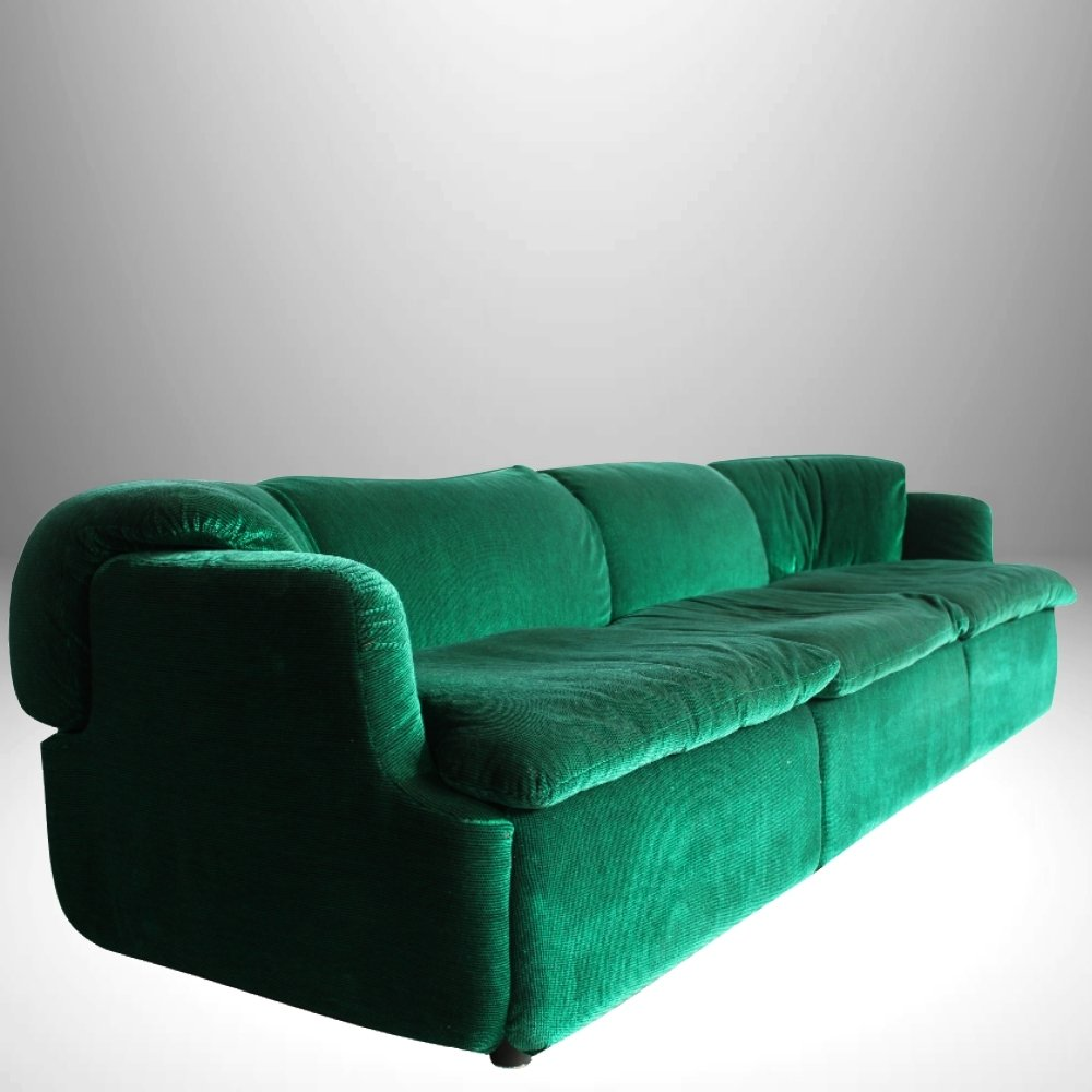 Italian emerald green sofa by alberto rosselli for for Emerald green sectional sofa