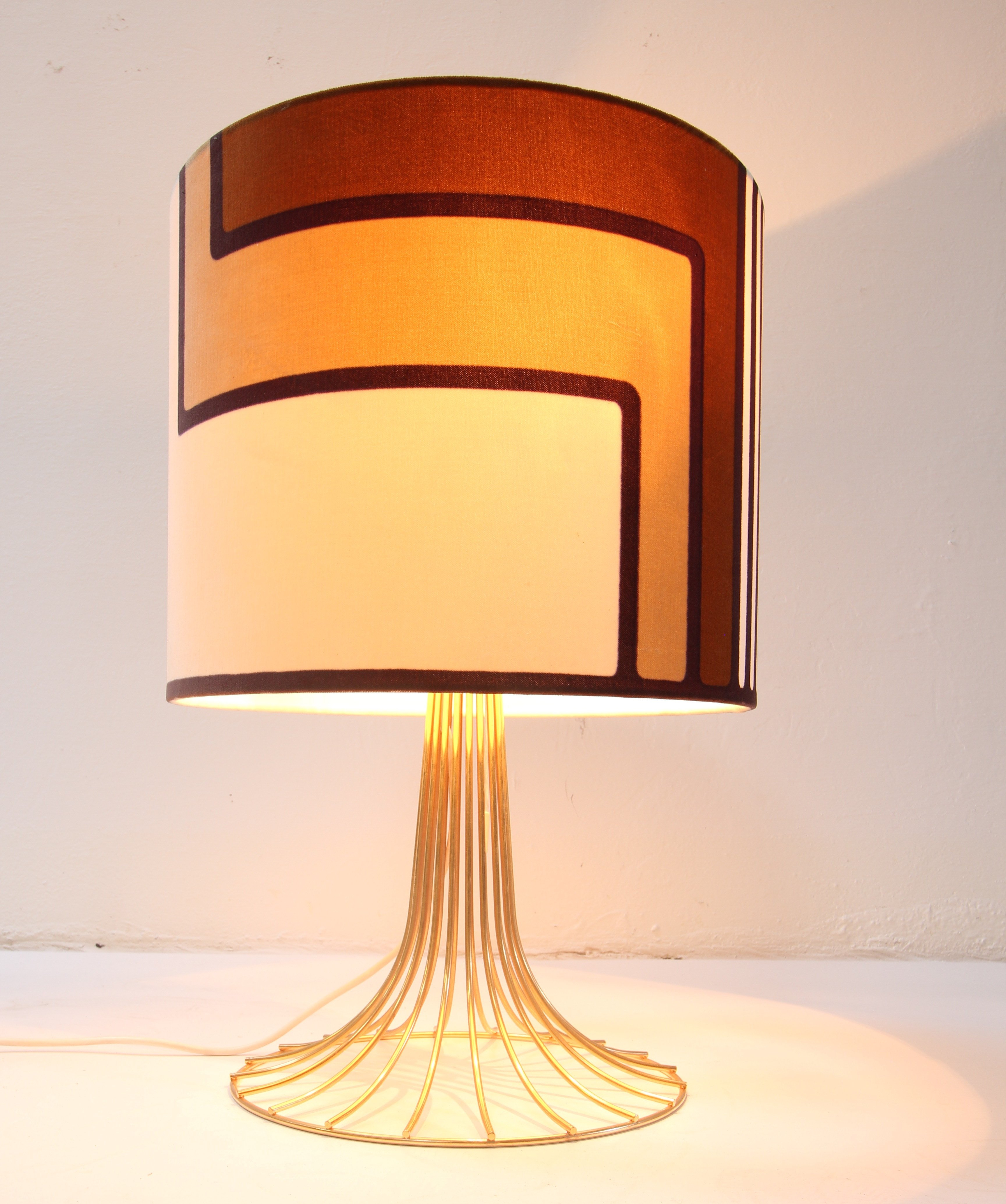 Rare gold wire lamp desk lamp by Verner Panton for Fritz Hansen ...