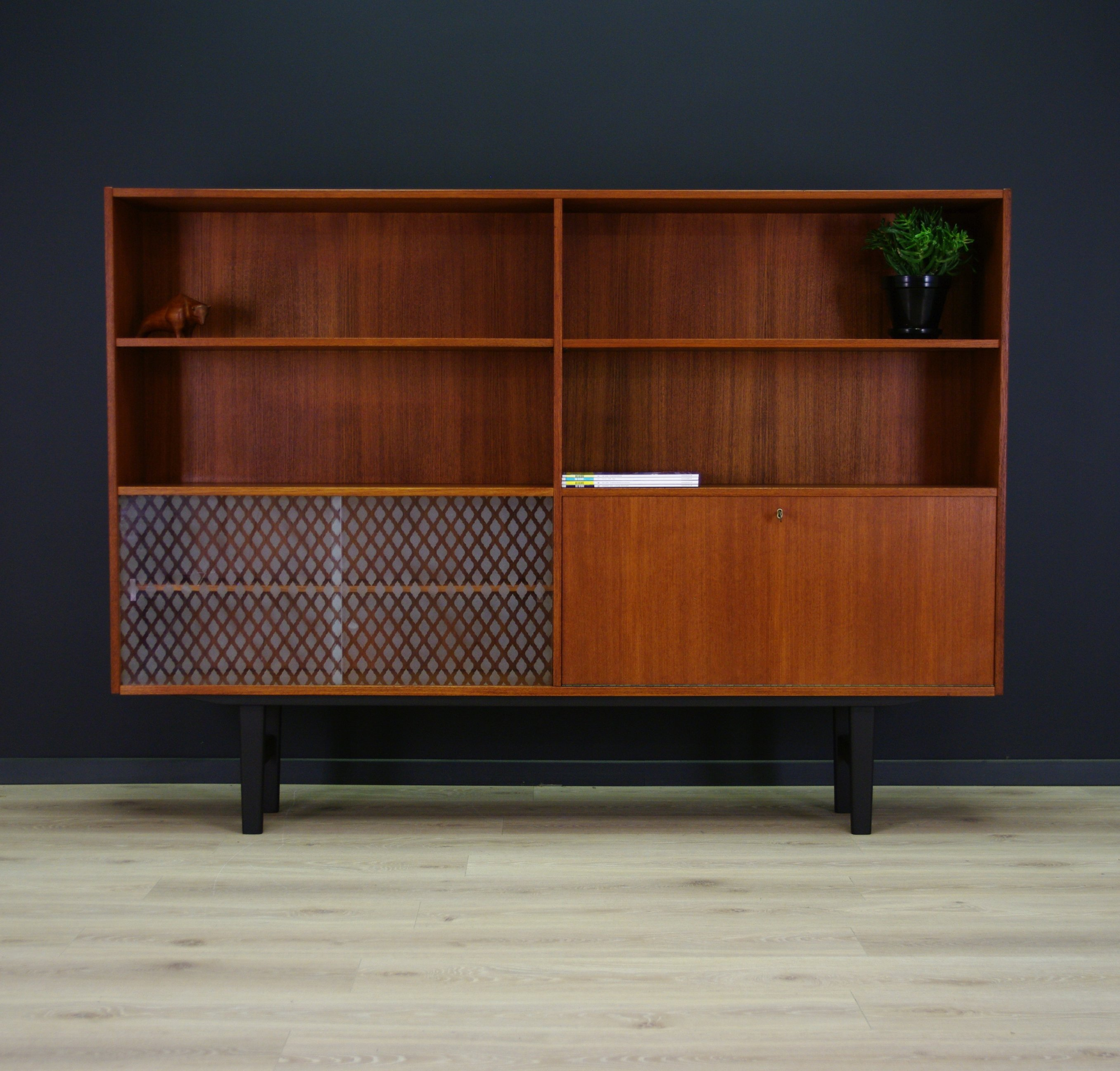high sideboard from the sixties by unknown designer for unknown producer 60360. Black Bedroom Furniture Sets. Home Design Ideas