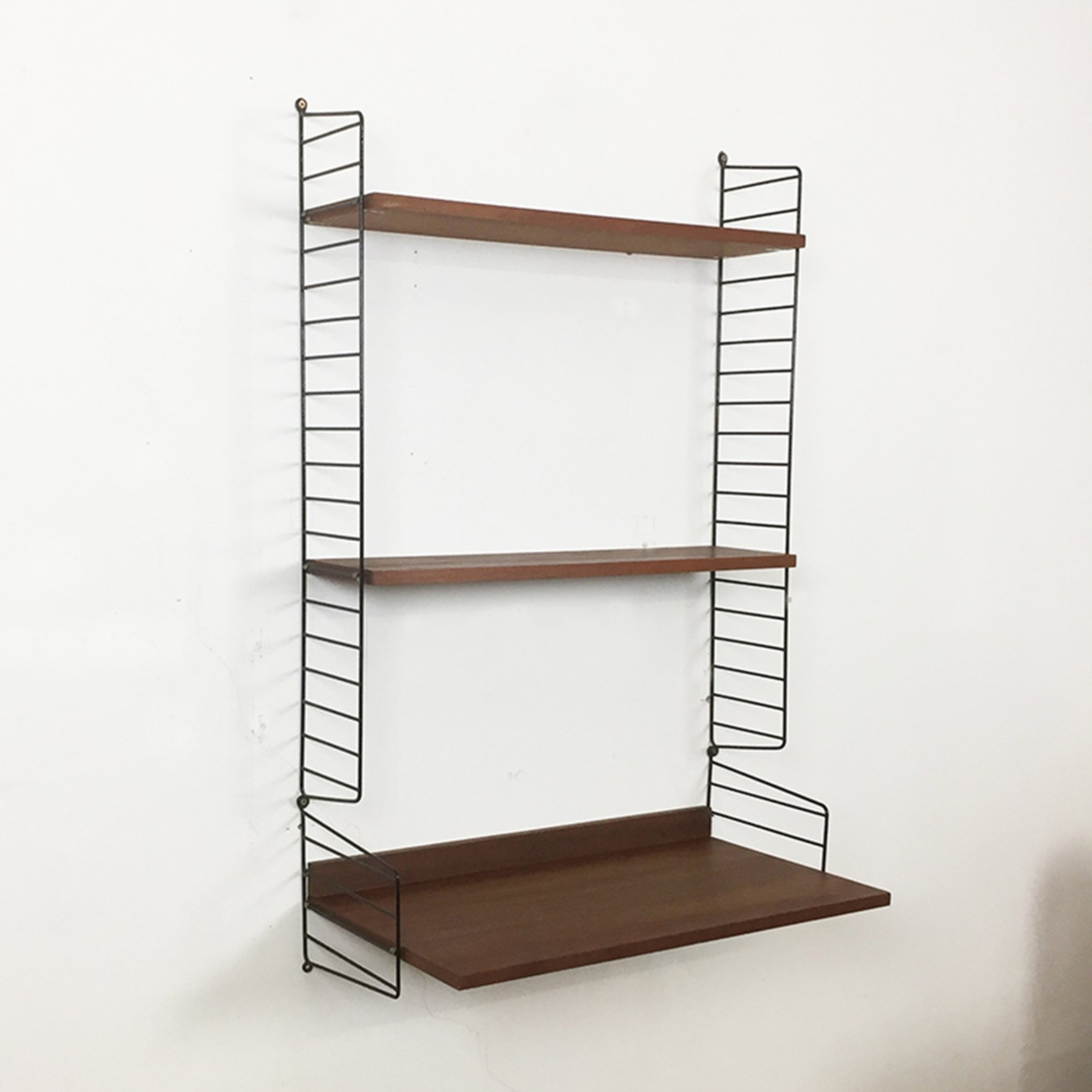 Teak Wood Wall Unit From The Sixties By Nisse Strinning
