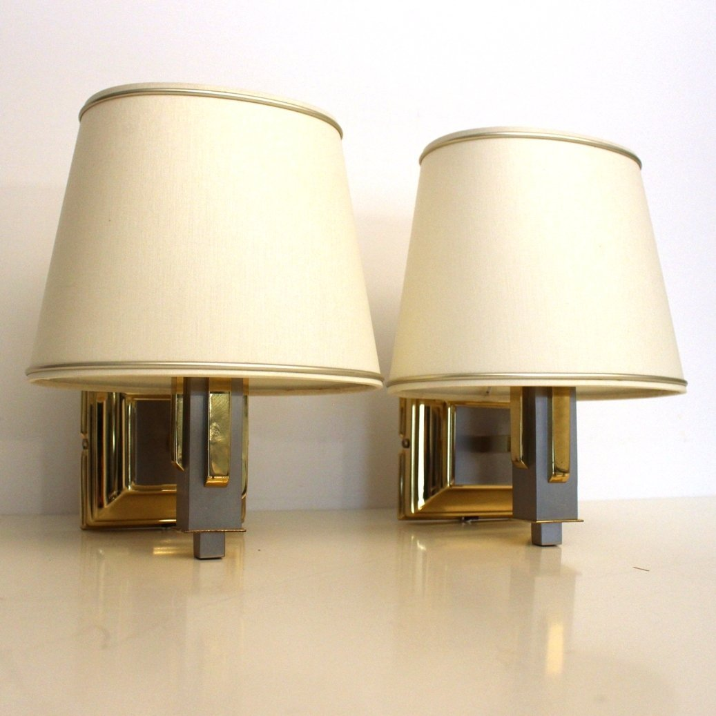 Wall Lamp Set Sri Lanka : Set of 2 wall lamps from the eighties by Unknown Designer for Unknown Producer #60746