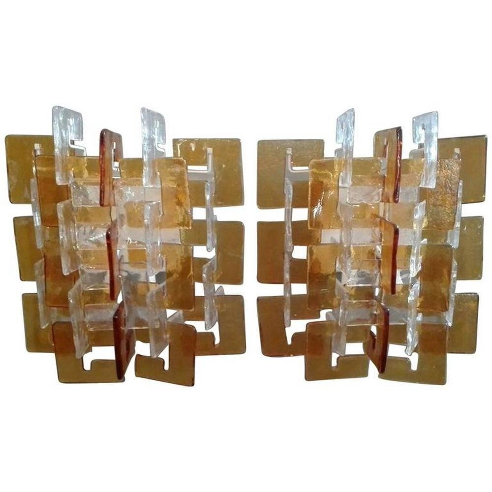 Set Of 2 Vercelli Wall Lamps From The Sixties By Carlo Nason For Mazzega 61218