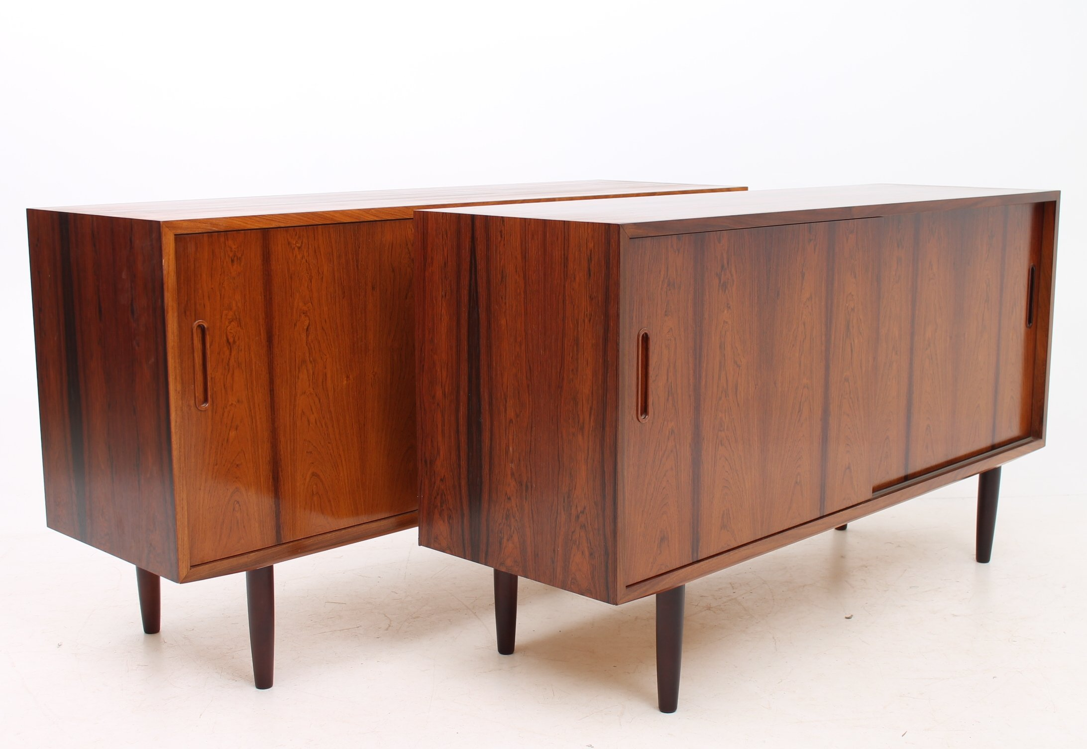 set of 2 sideboards from the sixties by poul hundevad for. Black Bedroom Furniture Sets. Home Design Ideas