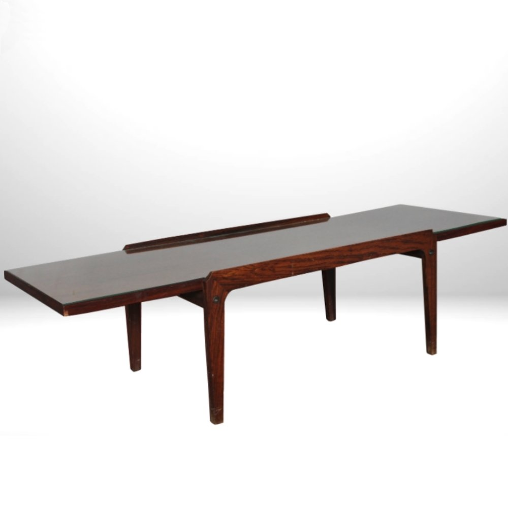 Italian Midcentury Elegant Coffee Table With Glass Top 61605