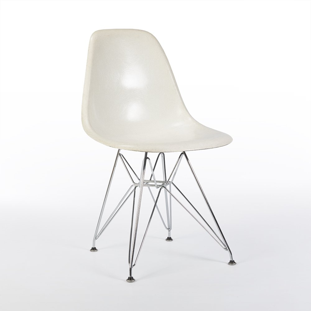 back 3rd generation zenith eames white dsr side shell chair 61838